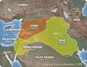 Los mandatos que la Liga de las Naciones crearon después de la Primera Guerra Mundial