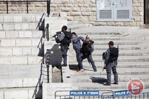 palestino y las fuerzas sionistas