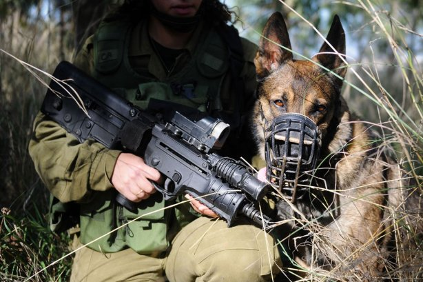 israeli-soldier-idf-with-idf-dog-canine-unit