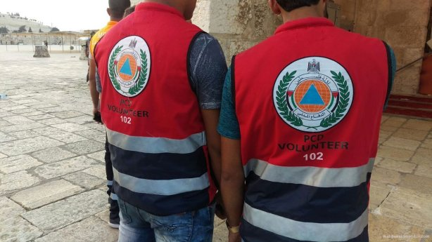 Palestinian-emergency-medical-aid-workers