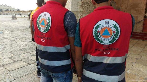Palestinian-emergency-medical-aid-workers